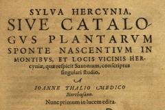 Thal 1588 Sylva Hercynia, Titelbild